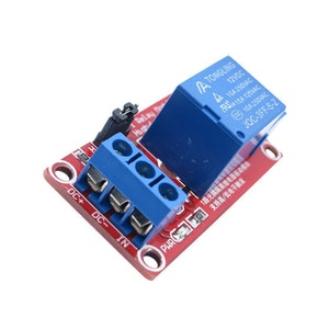 24V 1 Channel Relay Module with Optocoupler High and Low Level Trigger Expansion Board