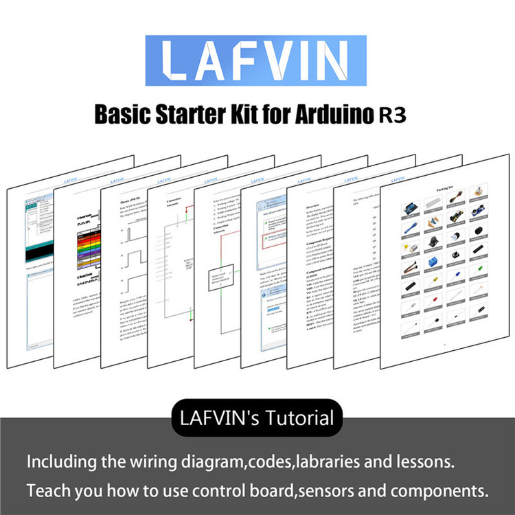 LAFVIN Basic Starter Kit include R3 Board with LCD1602 IIC with