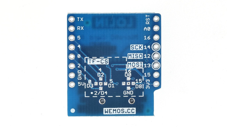 MicroSD card reader for WeMos D1 Mini