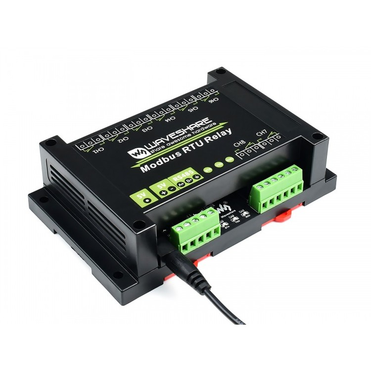 Modbus RTU 8-ch Relay Module with RS485 Interface