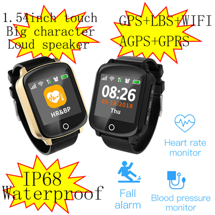 Fall down detection smartwatch GPS Tracker For Elderly