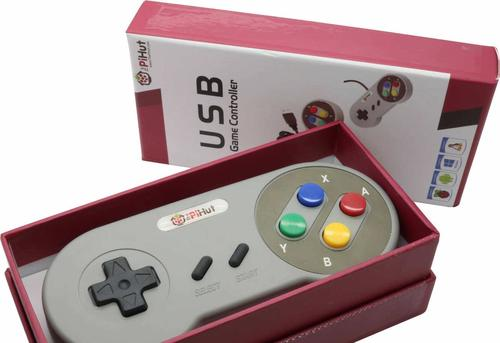 """Raspberry Pi Compatible USB Gamepad / Controller (""""SNES"""" Style)"""