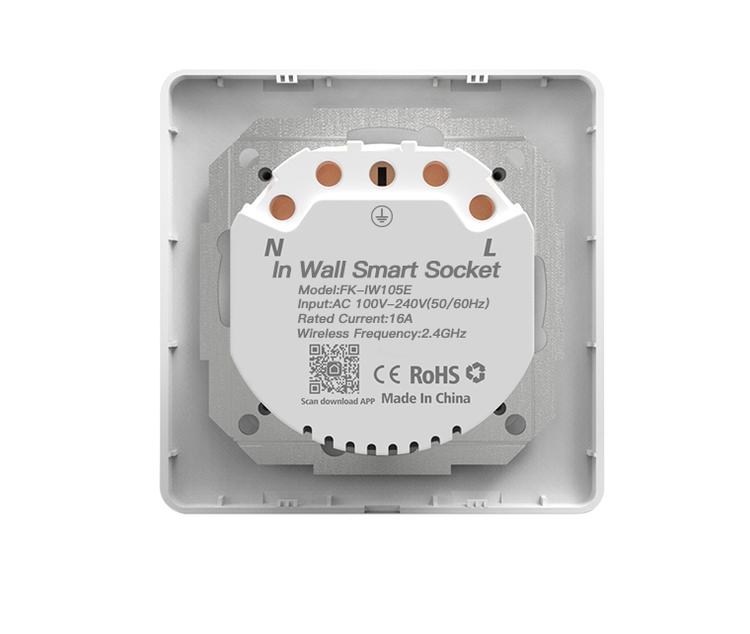 Wall switch socket Smart wifi EU power socket work with Tuya Smart app
