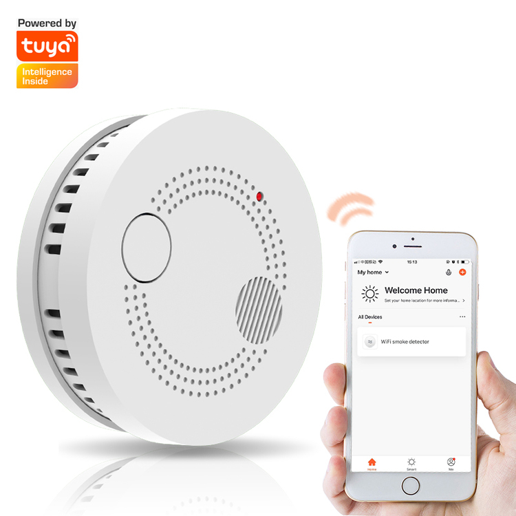 Wireless WiFi Tuya Smart Smoke Alarm Sensor Detector