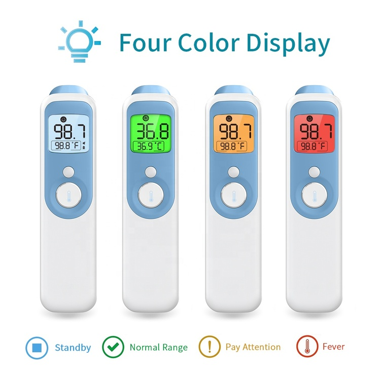 Digital 4 IN 1 Forehead & Ear infrared Thermometer with LED Display