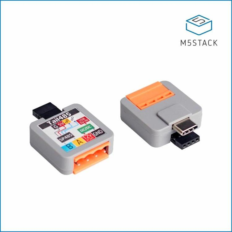 Official M5Stack ATOM Tail485 Converting RS485 Signals to TTL RS485