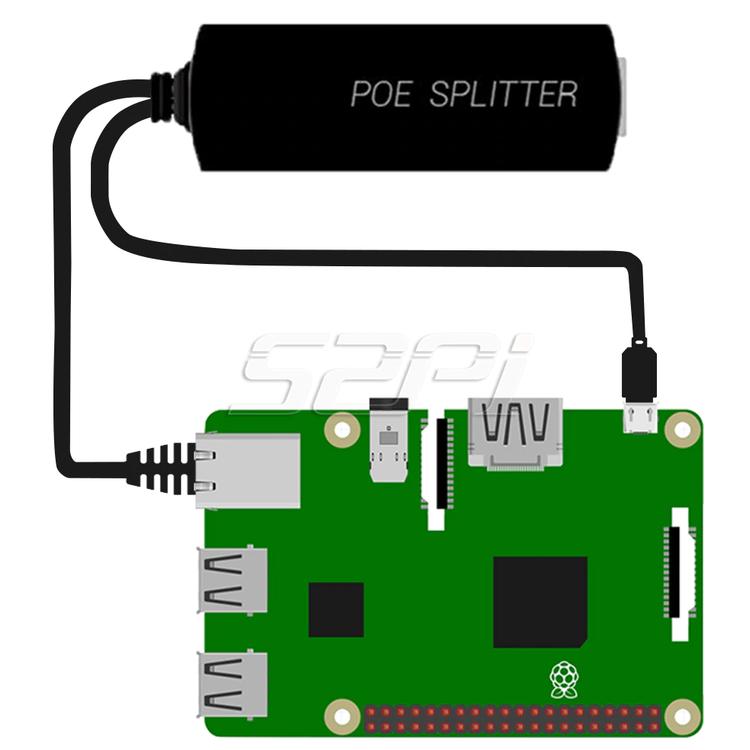 Gigabit Raspberry Pi PoE Splitter Gigabit USB Type C Power Over Ethernet IEEE 802.3af PoE Switch Extension