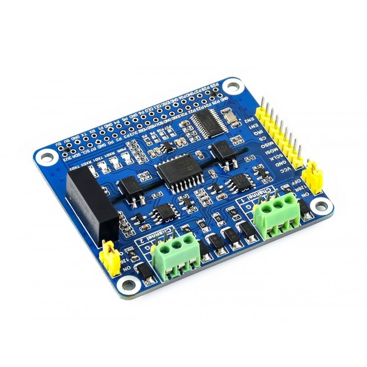 2-Channel Isolated RS485 Expansion HAT for Raspberry Pi