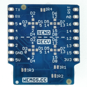 IR Controller Shield V1.0.0 for LOLIN D1 mini Infrared sensors