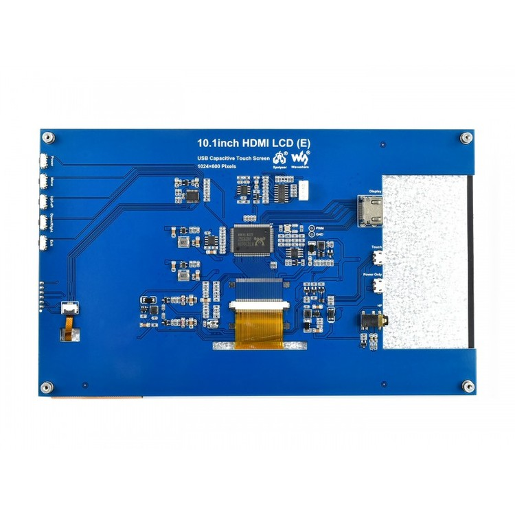 10.1inch Capacitive Touch Screen LCD (E), 1024×600, HDMI, IPS, Fully Laminated Screen