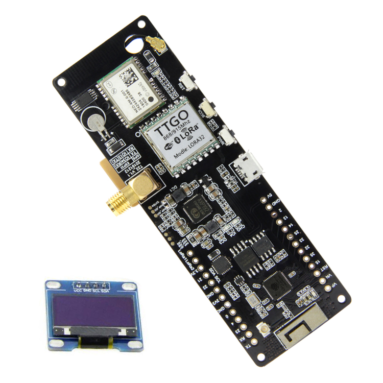 LILYGO® TTGO Meshtastic T-Beam V1.1 ESP32 433/868 Mhz WiFi Bluetooth ESP32 GPS NEO-6M SMA 18650 Battery Holder With OLED