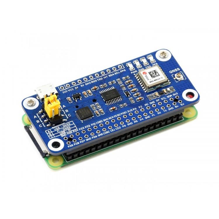 MAX-M8Q GNSS HAT for Raspberry Pi, Multi-constellation Receiver Support, GPS, Beidou, Galileo, GLONASS
