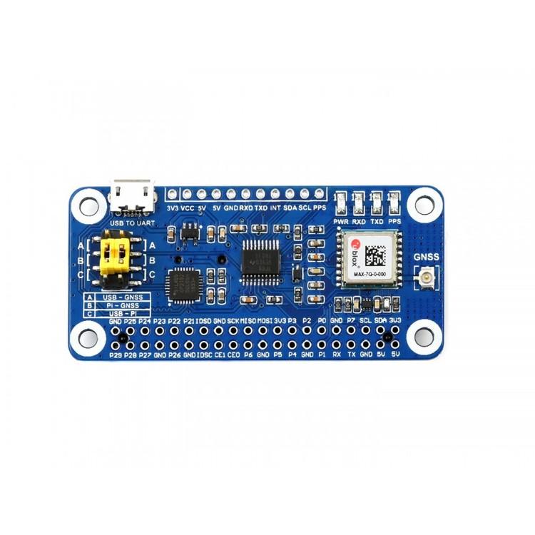 MAX-7Q GNSS HAT for Raspberry Pi, GPS, GLONASS, QZSS, SBAS