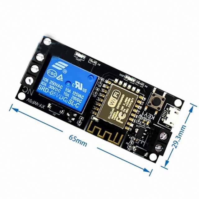 WIFI mobile phone remote control relay module DC6V~36V For smart home phone APP