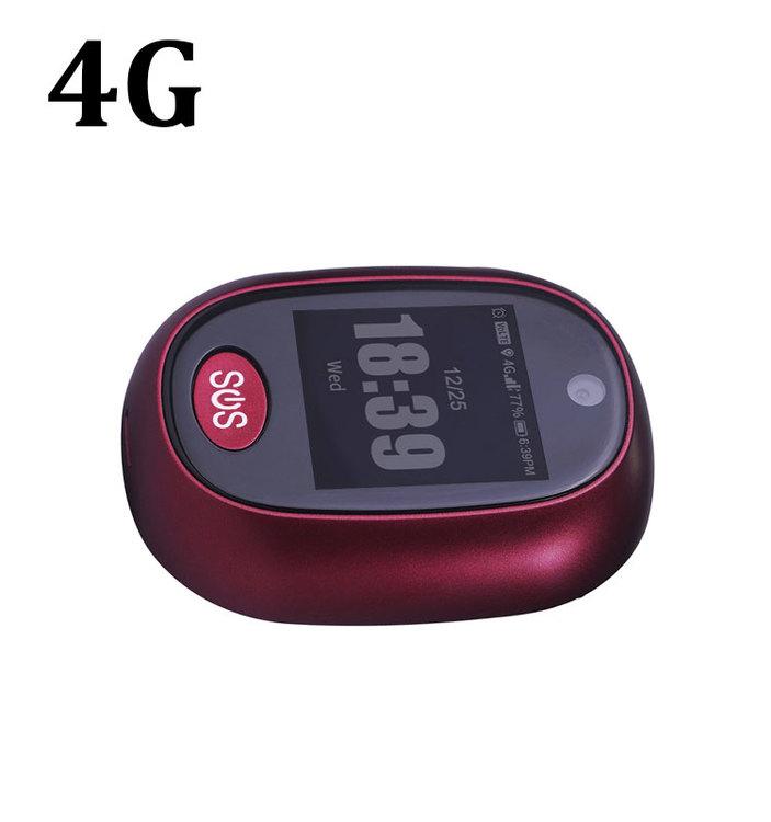 4G GPS mini tracker äldre och barn SOS alarm långtidsbatteri