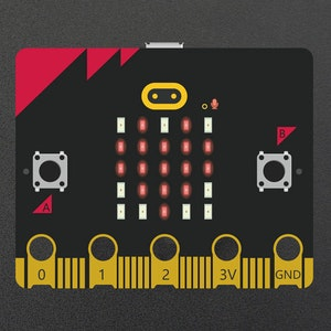 micro:bit v2 - with speaker, microphone, accelerometer, 2.4GHz radio/ BLE 5.0