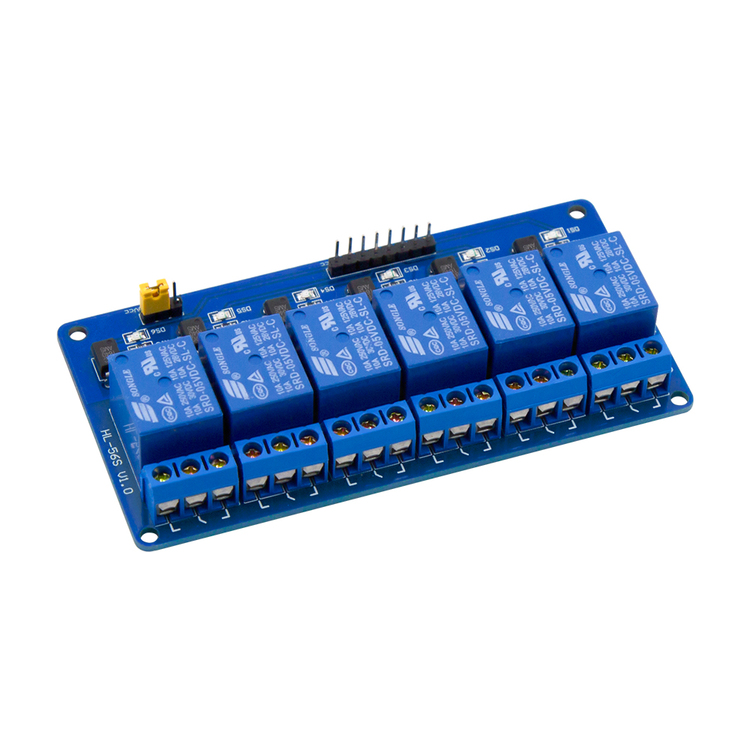 6 Channel Low Level Relay Module with light coupling Expansion Board