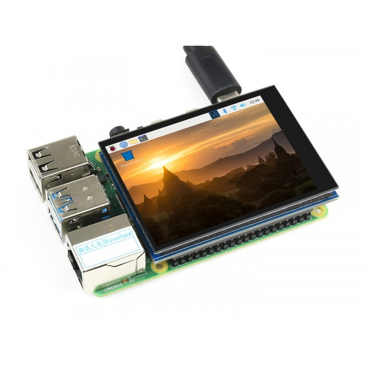 2.8inch Capacitive Touch Screen LCD for Raspberry Pi, 480×640, DPI, IPS