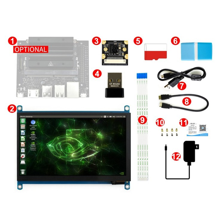 Jetson Nano 2GB Development Pack suitable for Robotics Learning