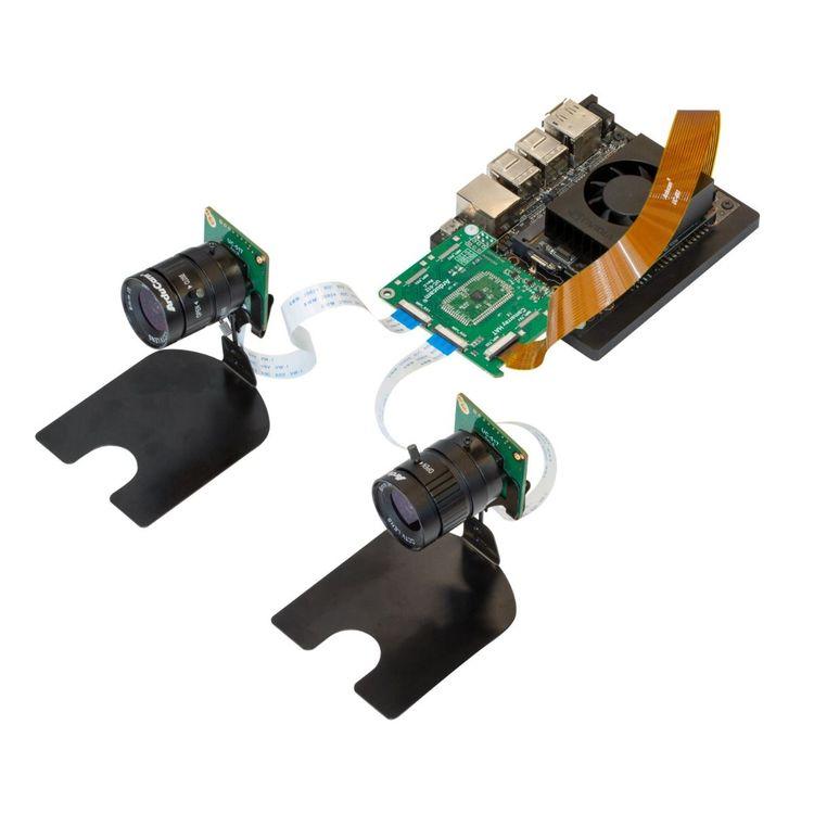 Arducam 12MP*2 Synchronized Stereo Camera Bundle Kit for Nvidia Jetson Nano and Xavier NX