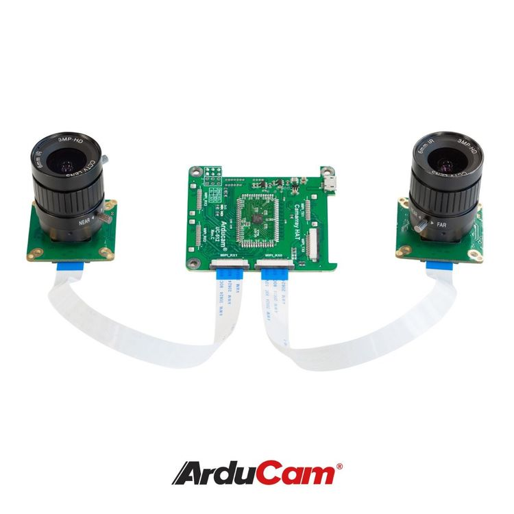 Arducam 12MP*2 Synchronized Stereo Camera Bundle Kit for Raspberry Pi