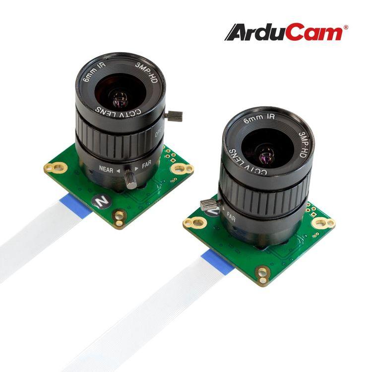Arducam 12MP*2 Synchronized Stereo Camera Bundle Kit for Raspberry Pi