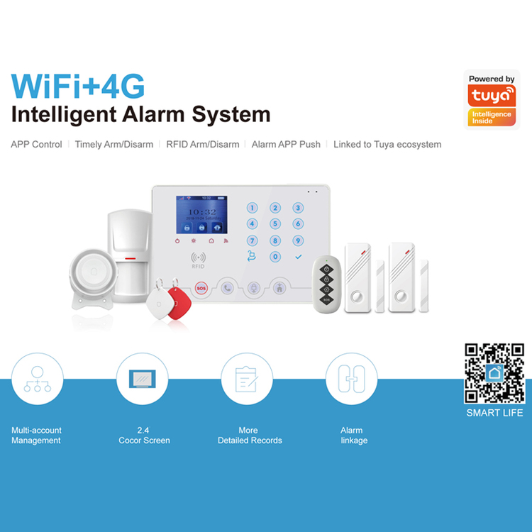 Tuya Smart Life 4G WIFI Smart Security Alarm System Kit