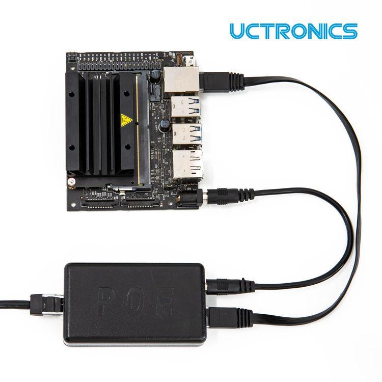 UCTRONICS PoE Gigabit Splitter 5V 4A – Active PoE+ to Barrel Jack, IEEE 802.3at