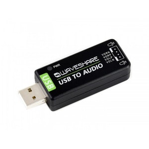USB Sound Card, Driver-Free, for Raspberry Pi / Jetson Nano kit