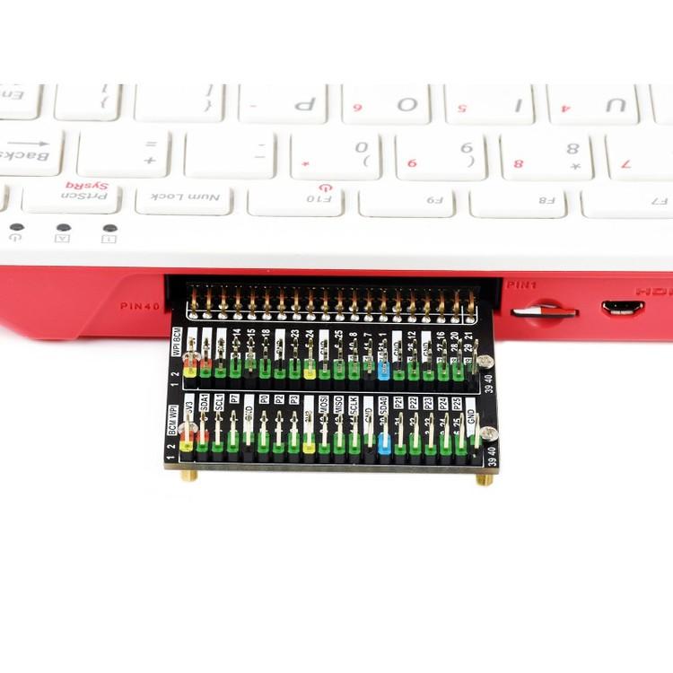 Raspberry Pi 400 GPIO Header Adapter, Header Expansion, 2x 40PIN Header