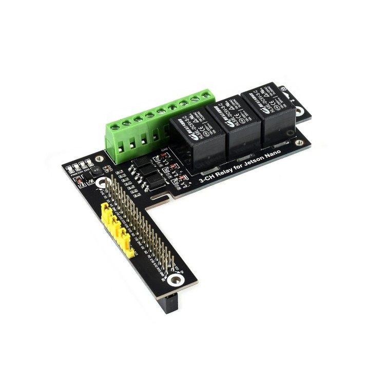 Quality 3-Ch Relay Expansion Board Designed For Jetson Nano, Optocoupler Isolation