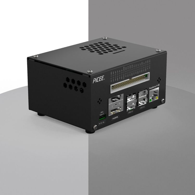 All in one RPi 4 real  Desktop Computer with RGB Air Cooler, Aluminum Case, OLED Screen