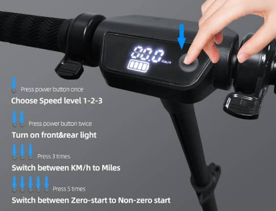 X8 Pro Electric scooter justerbar höjd och  vikbar