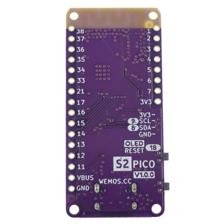 Lolin S2 Pico V1.0.0 Wifi board OLED based ESP32-S2FN4R2