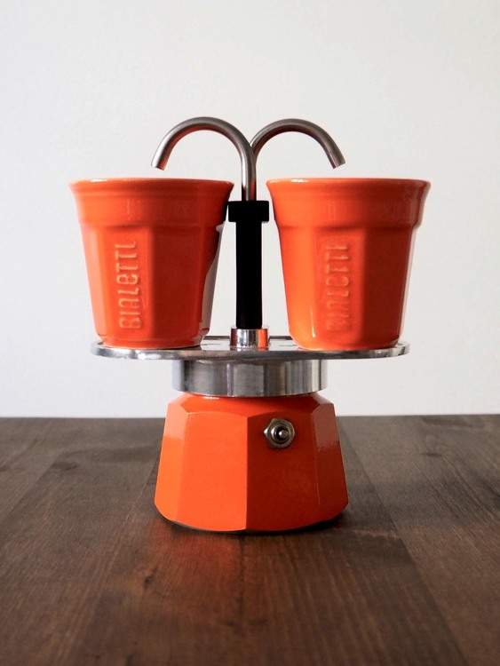 Bialetti Mini Express Orange Porslin
