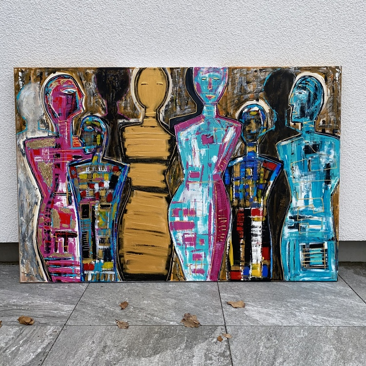 COME TOGETHER originalmålning 100 x 150 cm