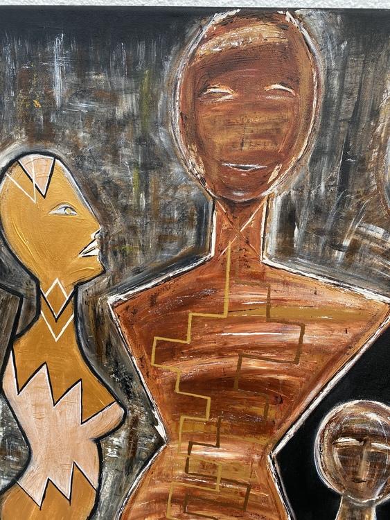 GALLERY PEOPLE, originalmålning 100x150  cm