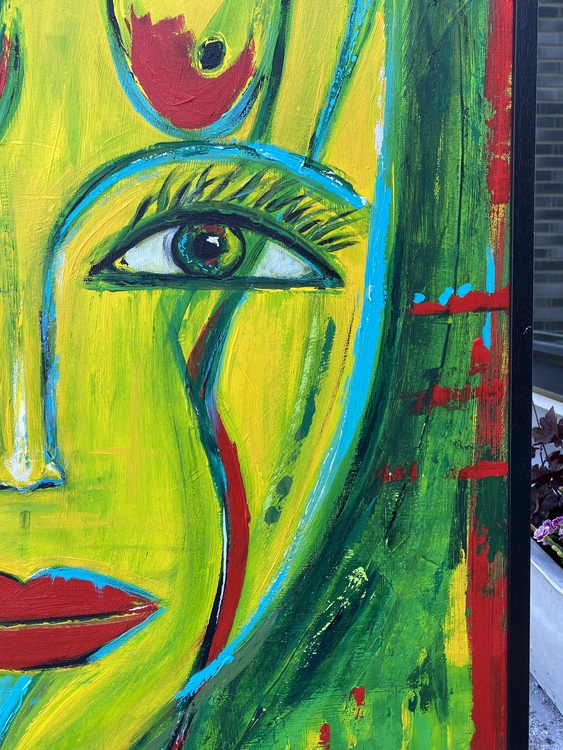 Face Of The Sculpture, Originalmålning 82x103 cm