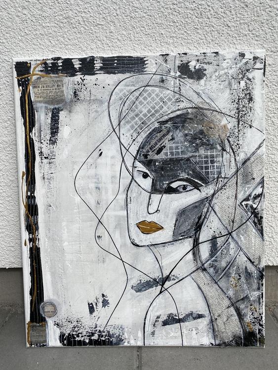 Mascarade, originalmålning  54x64 cm
