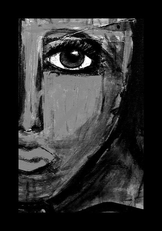 """I SEE YOU"" (svartvit)"