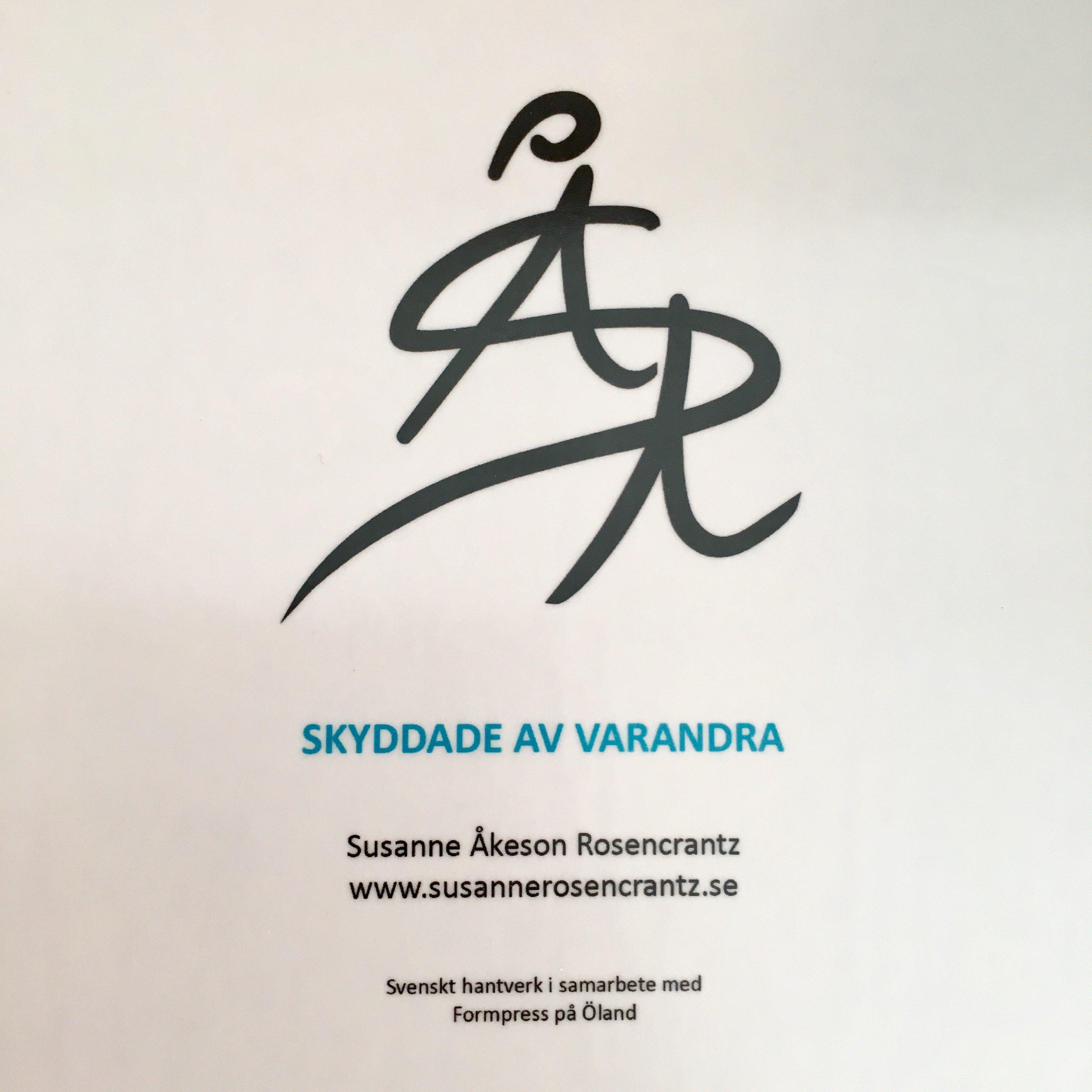 """Skyddade Av Varandra """"Bricka 45 cm"""""""