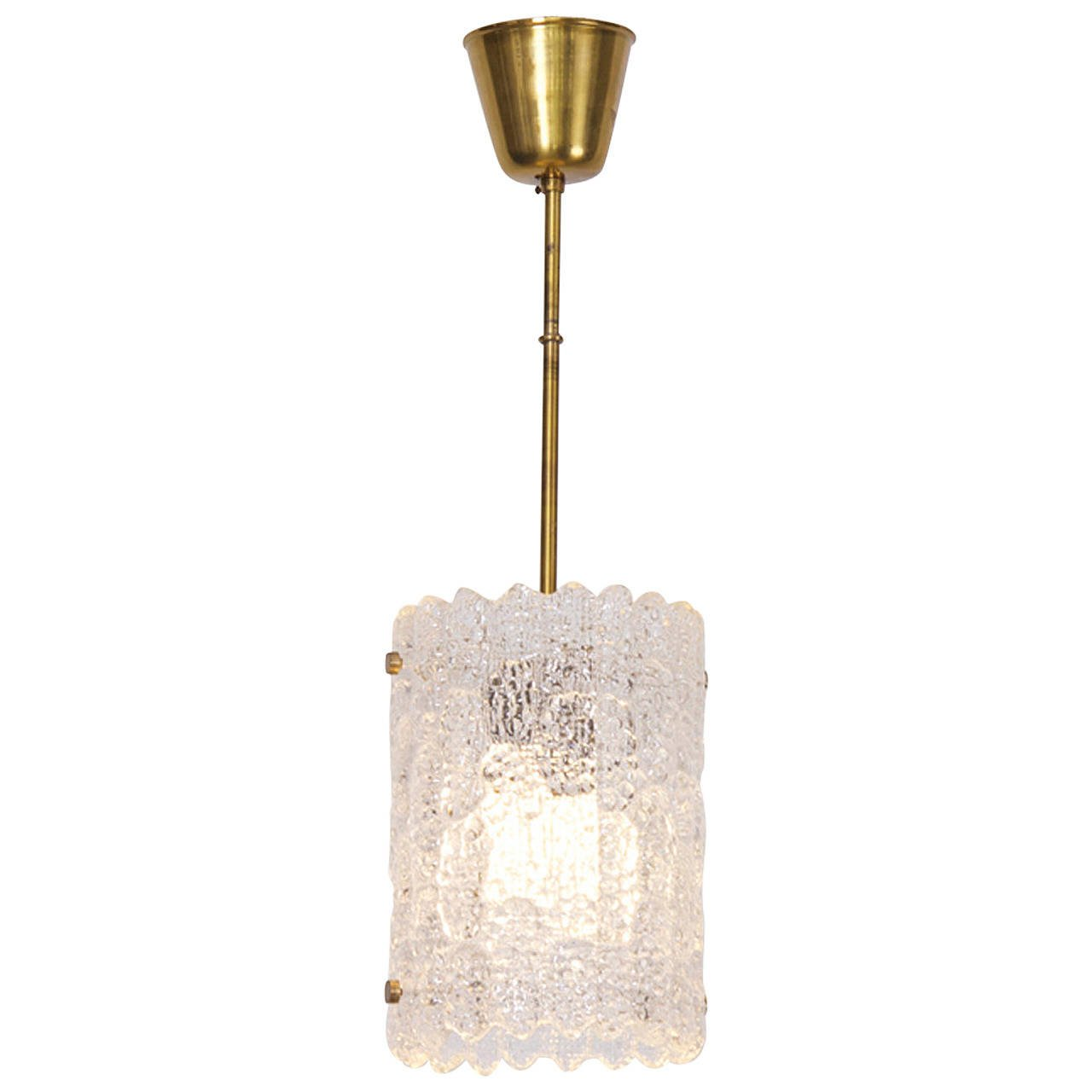 Orrefors Textured Glass Pendant by Carl Fagerlund