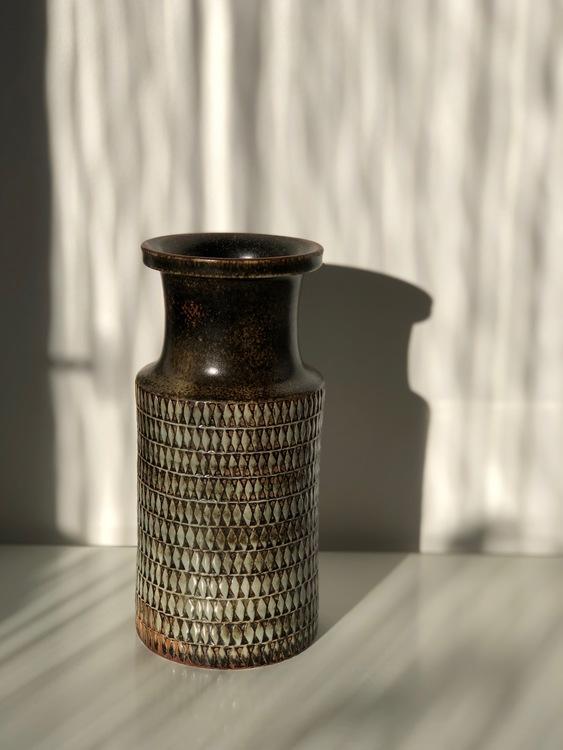 Stig Lindberg Stoneware Vase by Gustavsberg, 1950's