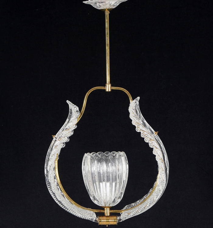 Orrefors Crystal Chandelier by Fritz Kurz