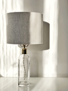 Orrefors Clear Glass Table Lamp RD-1406