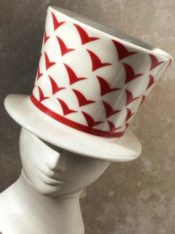 Lisa Larson Stoneware Face Vase by Höganäs