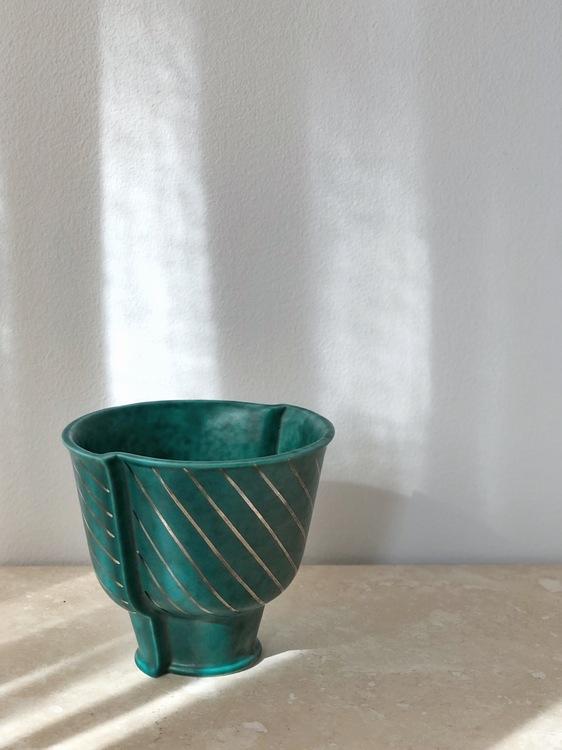 Wilhelm Kåge 'Argenta' Stoneware Vase by Gustavsberg