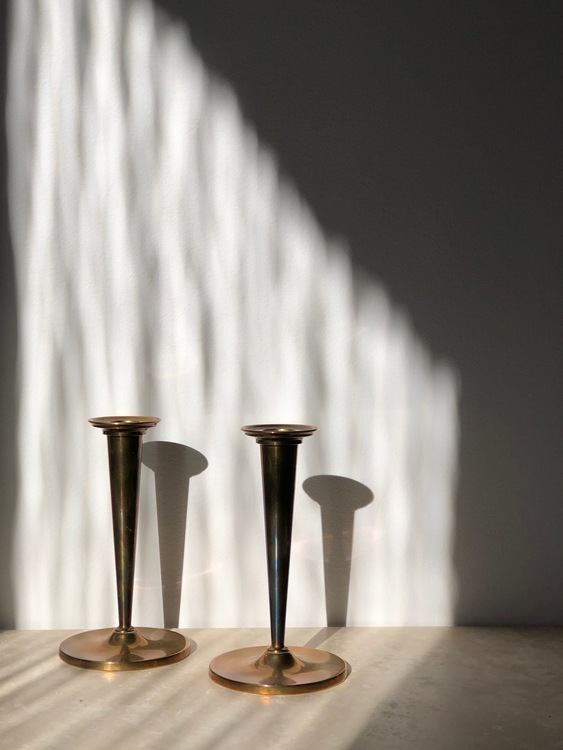 Arthur Pe KOLBÄCK set of Brass Candlesticks