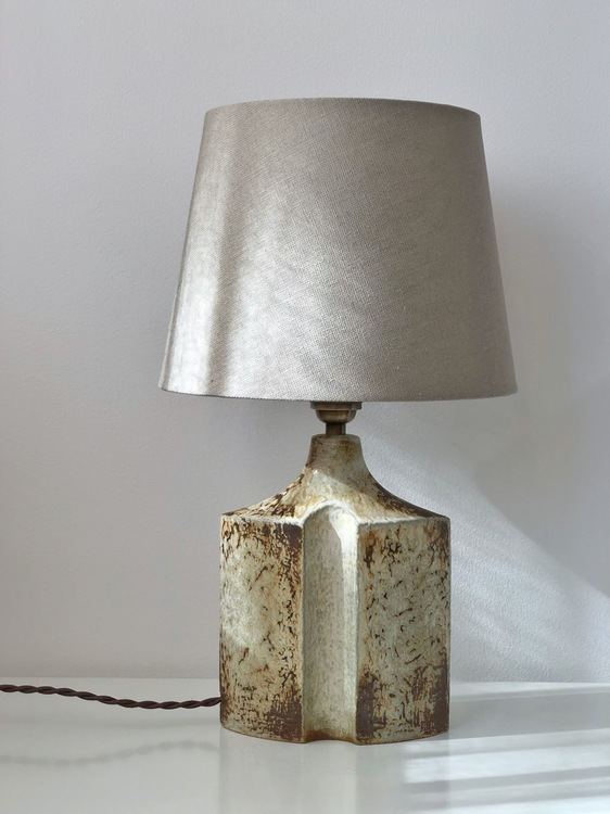 Søholm Speckled Ceramic Table Lamp model 1219 by Haico Nietzsche. 1970s.