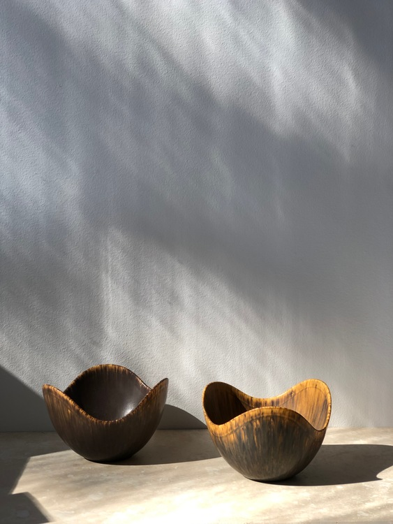 Gunnar Nylund set 'ASH' Ceramic Bowls for Rörstrand